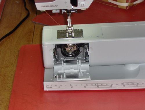 A semi-automatic needle threader on the Bernina 530