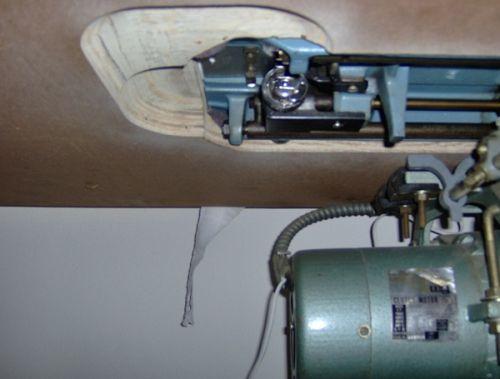 Inserting the bobbin case