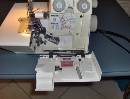 Color Coded Chart on the Bernina 334d serger