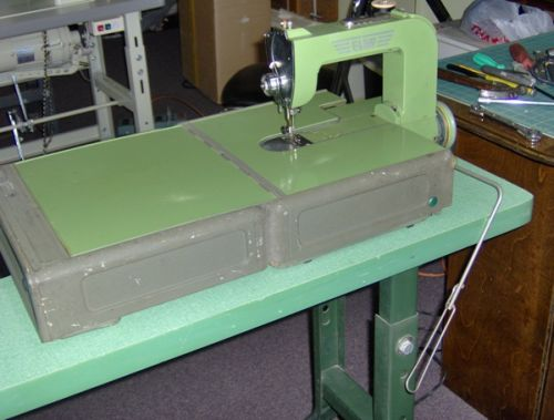 Carrying case converted in to a sewing table