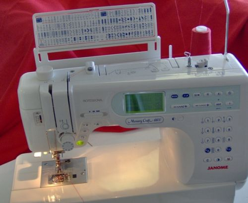 Janome Memory Craft 6600 is no lightweight