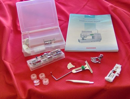 Janome Memory Craft 6600 standard accessories
