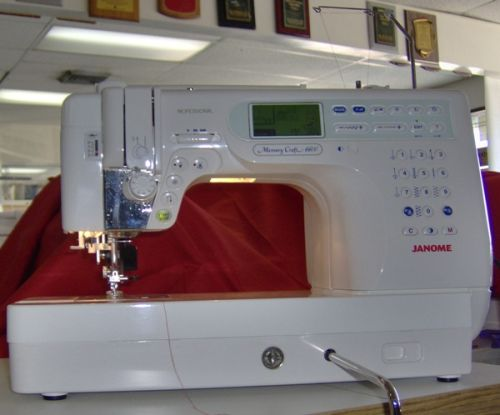 Janome Memory Craft 6600, art functionality at your fingertips