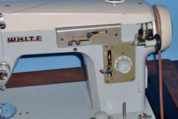 Vintage White Zigzag Sewing Machine
