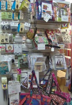 Sewing items on display