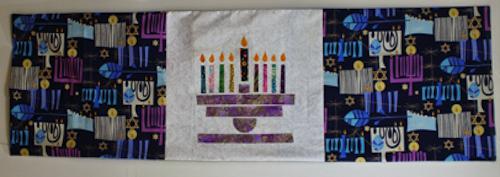 Hanukkah table runner